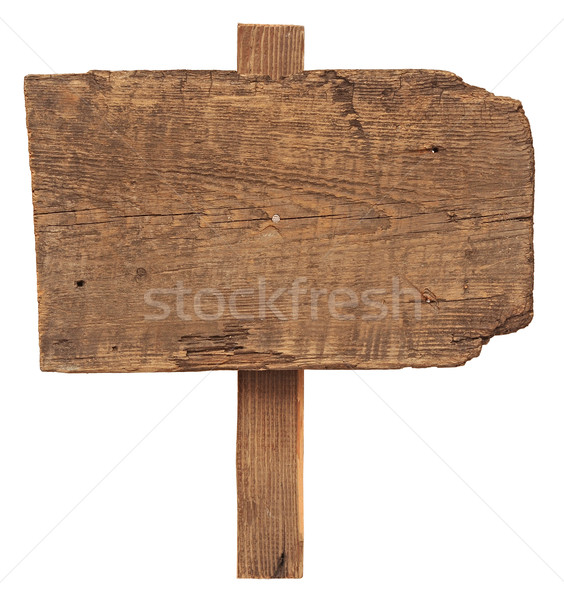 close up of an empty wooden sign isolated on white background  Stock photo © inxti
