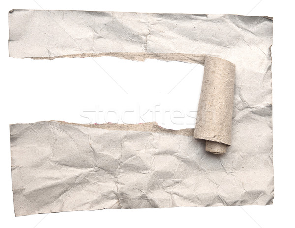 Torn paper on white background  Stock photo © inxti