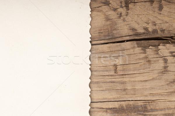 old aged photo texture border wooden background. Stock photo © inxti