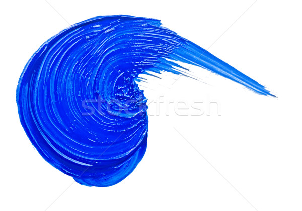 Blue brush strokes. Isolated on white background Stock photo © inxti