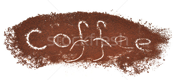 milled coffee sign Stock photo © inxti