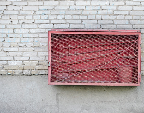 Yangın kavga tuğla duvar su Bina Stok fotoğraf © inxti