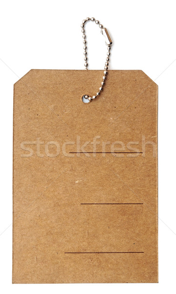 Cardboard price tag or sales label with string on white backgrou Stock photo © inxti