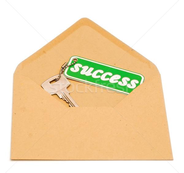 Kulcs siker nyitva boríték üzlet pénzügy Stock fotó © inxti