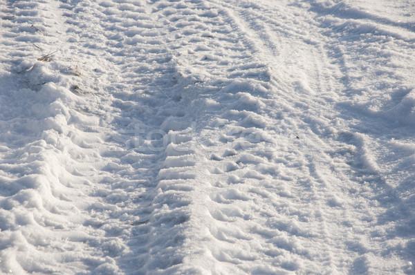 автомобилей шины первый снега текстуры дороги Сток-фото © inxti