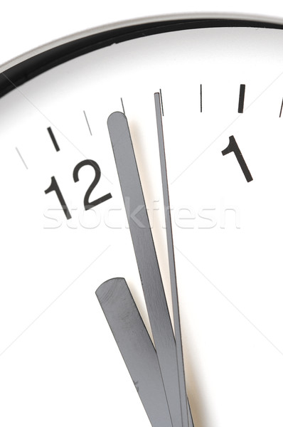detail in close-up of a modern office clock  Stock photo © inxti