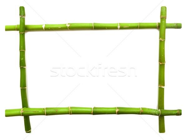 Bambù frame erba legno foglia giardino Foto d'archivio © inxti