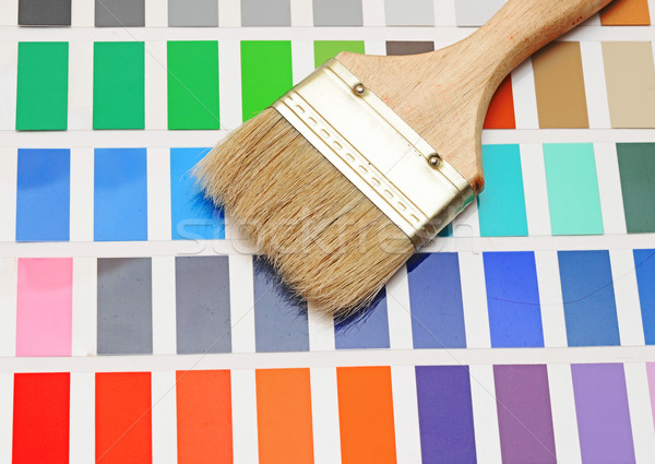 color palette and brush Stock photo © inxti
