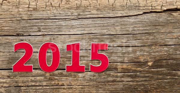 New Year 2015, Old grunge wood background  Stock photo © inxti