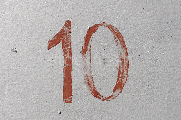 10 eski kahverengi numara grunge Stok fotoğraf © inxti
