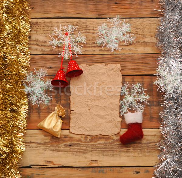 Stock fotó: Karácsony · dekoráció · klasszikus · papír · fa · fa