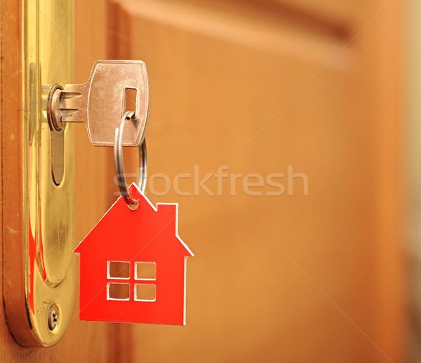 Zdjęcia stock: Symbol · domu · Stick · kluczowych · dziurka · rodziny