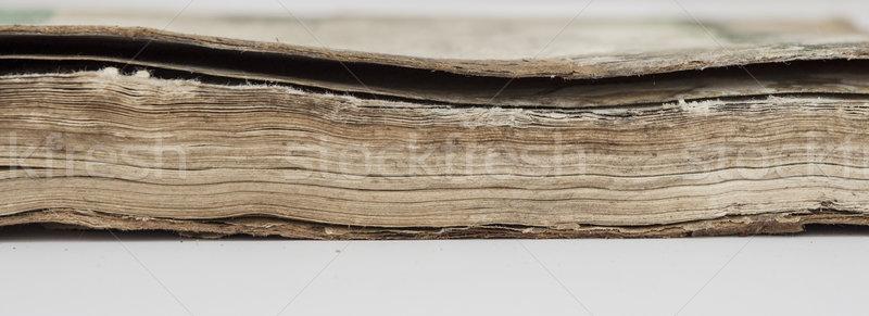 very old book closeup Stock photo © inxti