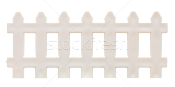 white picket fence isolated on white.  Stock photo © inxti