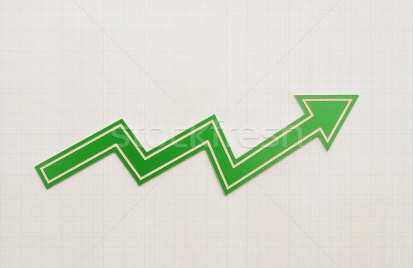 profit loss chart on graph paper  Stock photo © inxti