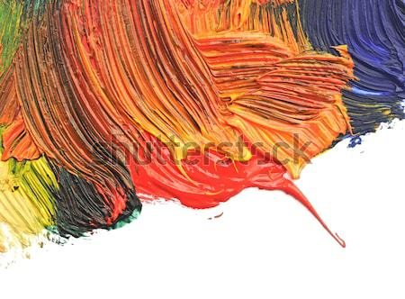 color paint border on white background Stock photo © inxti