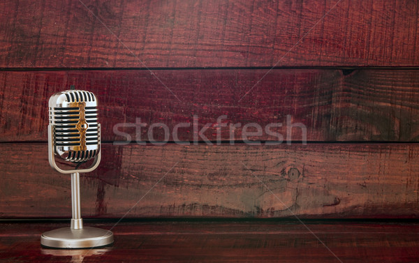 Old metal microphone  Stock photo © inxti