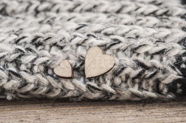 Serca wełniany szalik symbol miłości Zdjęcia stock © inxti