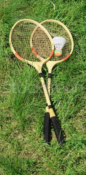 Badminton grama verde grama esportes verão profissional Foto stock © inxti