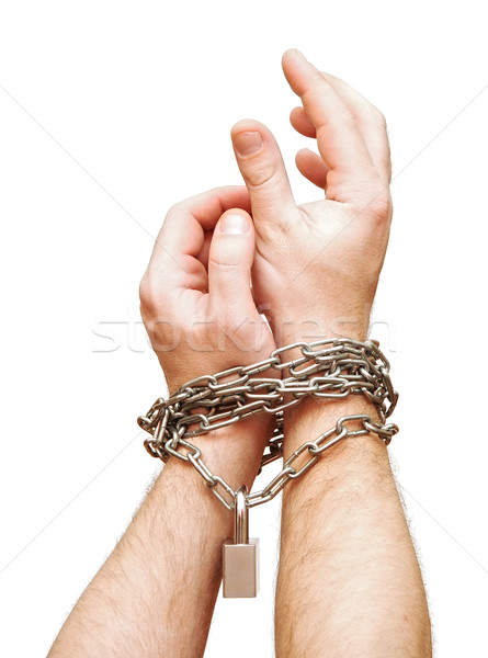 two chained hands Stock photo © inxti