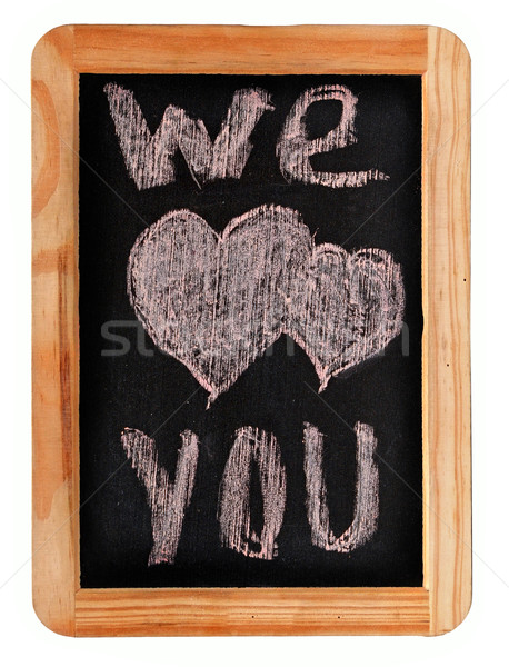 Chalk drawing - We Love You Stock photo © inxti
