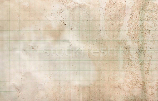sheet of graph paper stained by coffee background  Stock photo © inxti