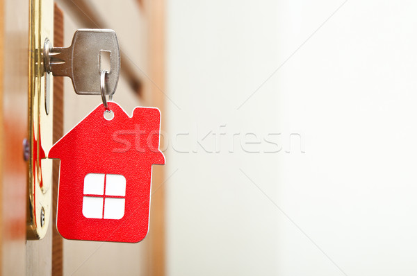 Symbol of the house and stick the key in the keyhole  Stock photo © inxti