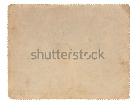 Reverse side of an old photo print with a decorative border  Stock photo © inxti