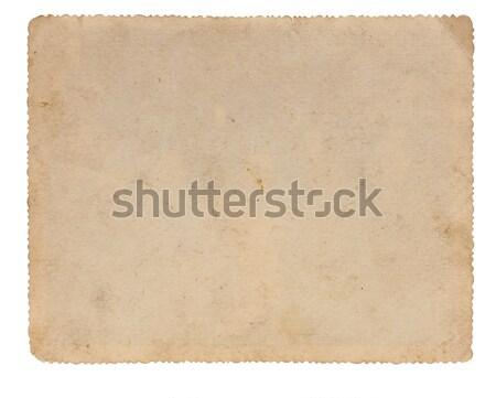 Oldal régi fotó nyomtatott dekoratív keret textúra Stock fotó © inxti