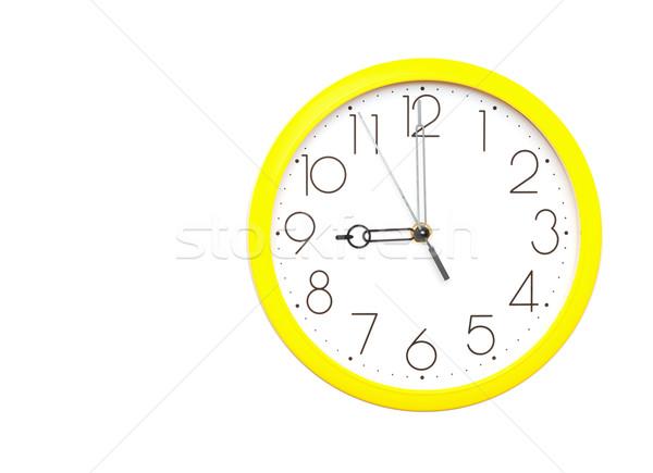 Giallo muro clock bianco business tempo Foto d'archivio © inxti