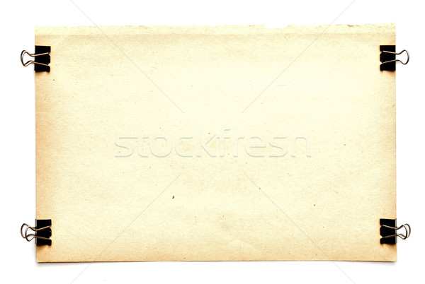 old paper sheets with clips Stock photo © inxti