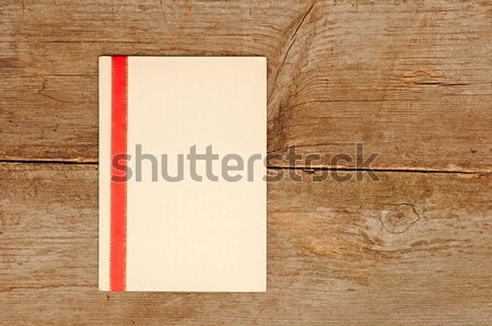 vintage blank card with red ribbon  Stock photo © inxti