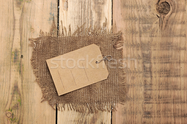 price tag on wood background  Stock photo © inxti