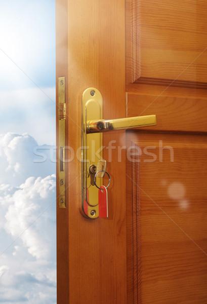 ドア 空 家 木材 抽象的な ストックフォト © inxti