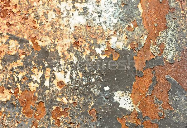 orange aged rusty wall, texture  Stock photo © inxti