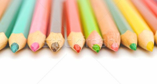 colorful pencils closeup  Stock photo © inxti