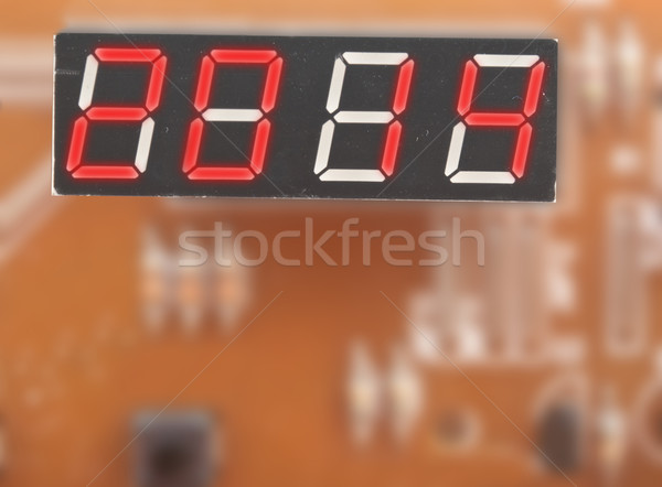 Happy new year, display with number 2014 Stock photo © inxti