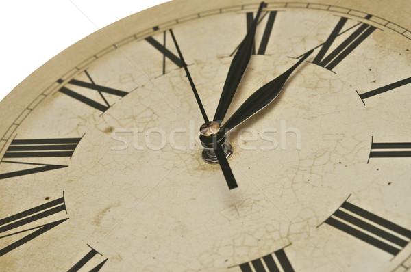 Velho relógio isolado branco vintage Foto stock © inxti
