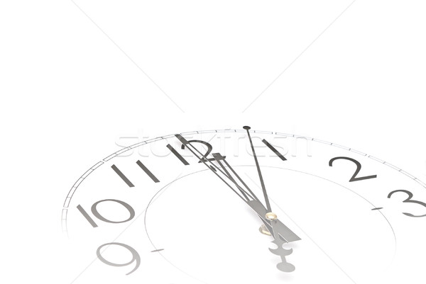 Hands pointing to midday on clock face  Stock photo © inxti