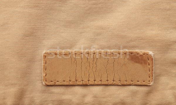 Old textile tag on the sacking  Stock photo © inxti