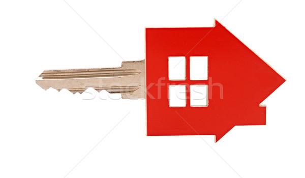 Zdjęcia stock: Domu · kluczowych · biały · dom · biały · domu · metal