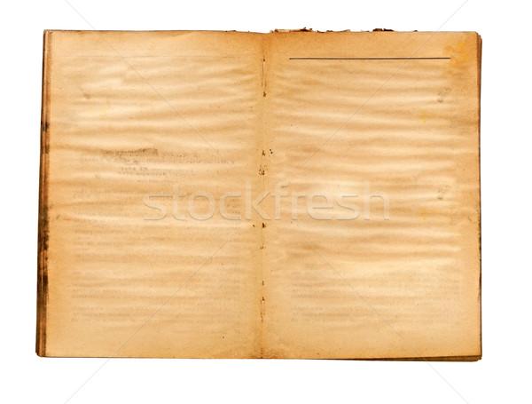 Starej książki żółty barwiony książki projektu Zdjęcia stock © inxti