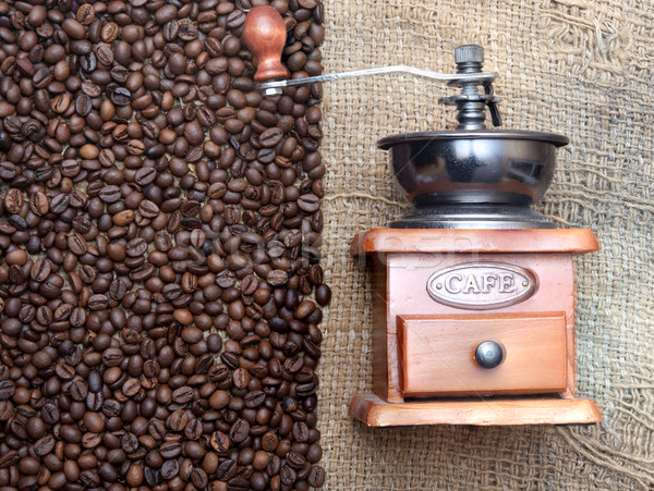 Kávé daráló magvak közelkép konyha ital Stock fotó © inxti