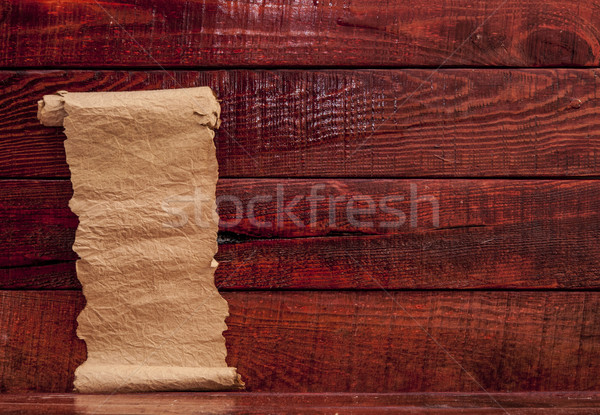 old paper on aged wood Stock photo © inxti