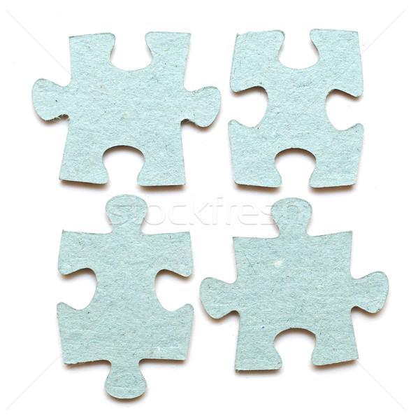 Pièces de puzzle blanche puzzle succès question Photo stock © inxti
