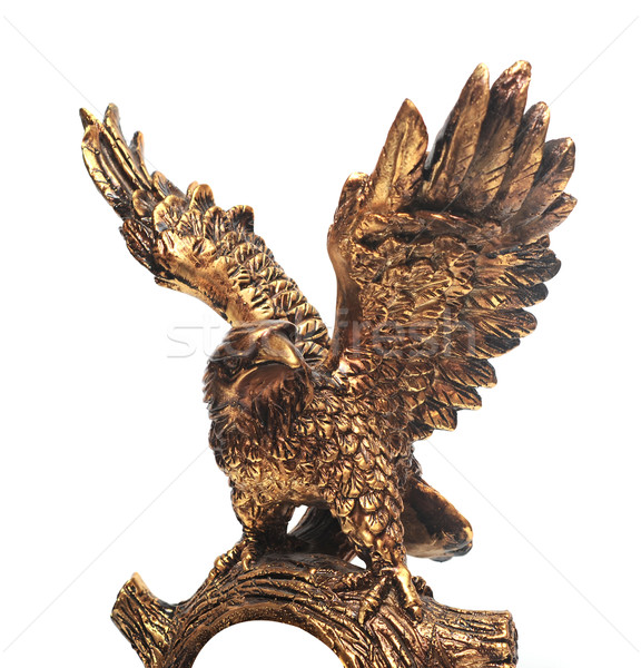 golden eagle statue on a white background. Stock photo © inxti