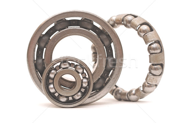 Ball bearings isolated on white background  Stock photo © inxti