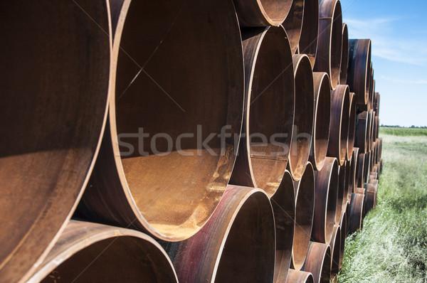 Groot staal pijpen water Stockfoto © inxti