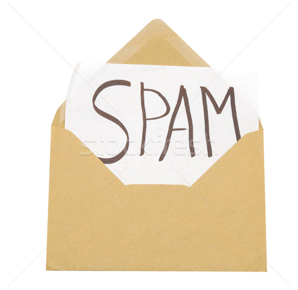 spam mail or e-mail concept with word on evelope  Stock photo © inxti