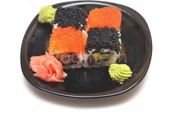 Foto stock: Sushi · preto · prato · peixe · mar